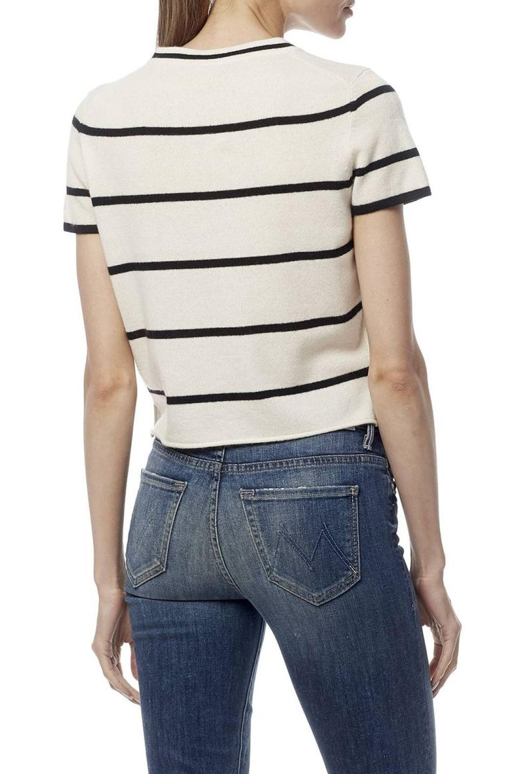 360 Cashmere Annabelle Stripe Cashmere Top - Front Full Image