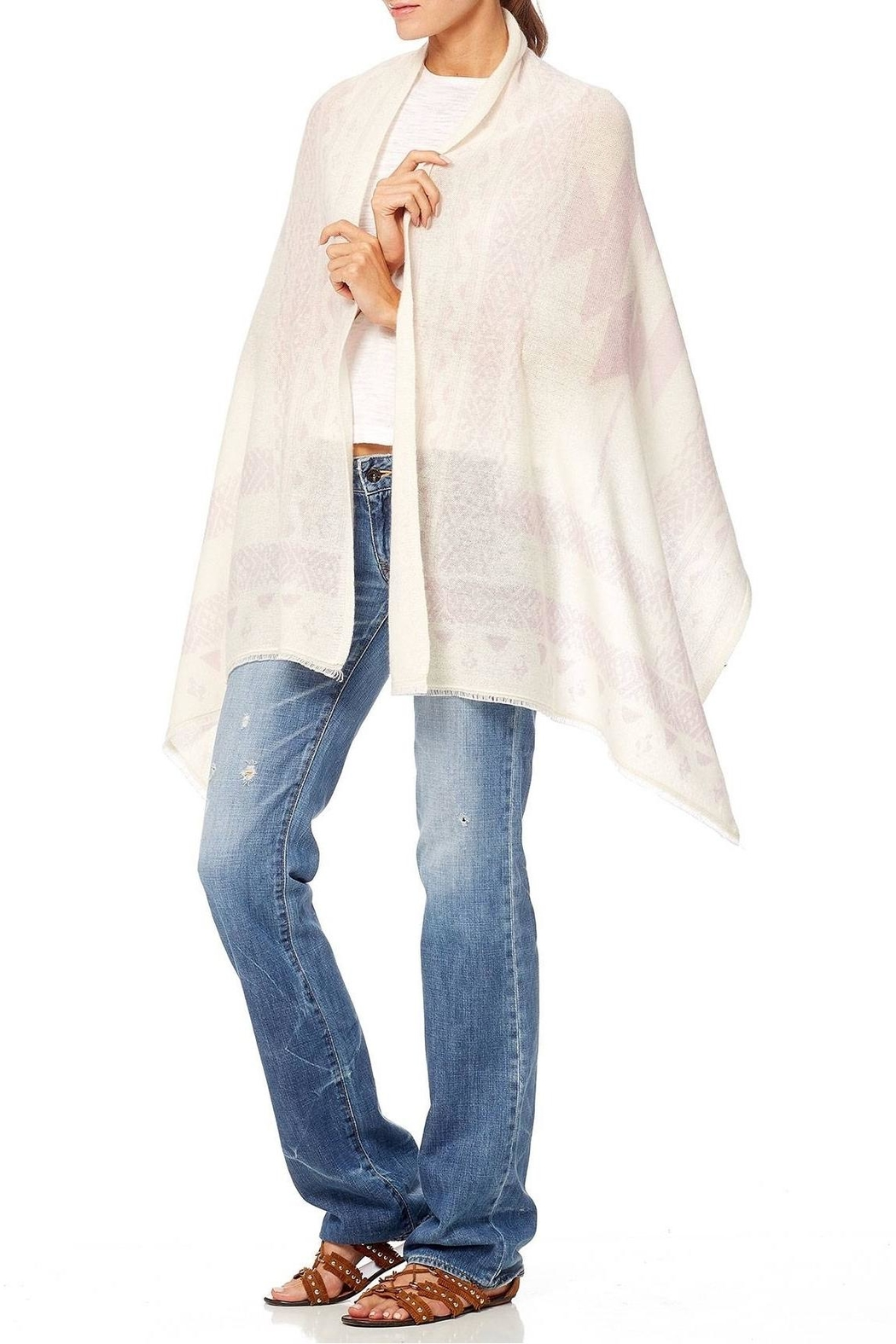 360 Cashmere Arrowhead Scarf - Front Full Image
