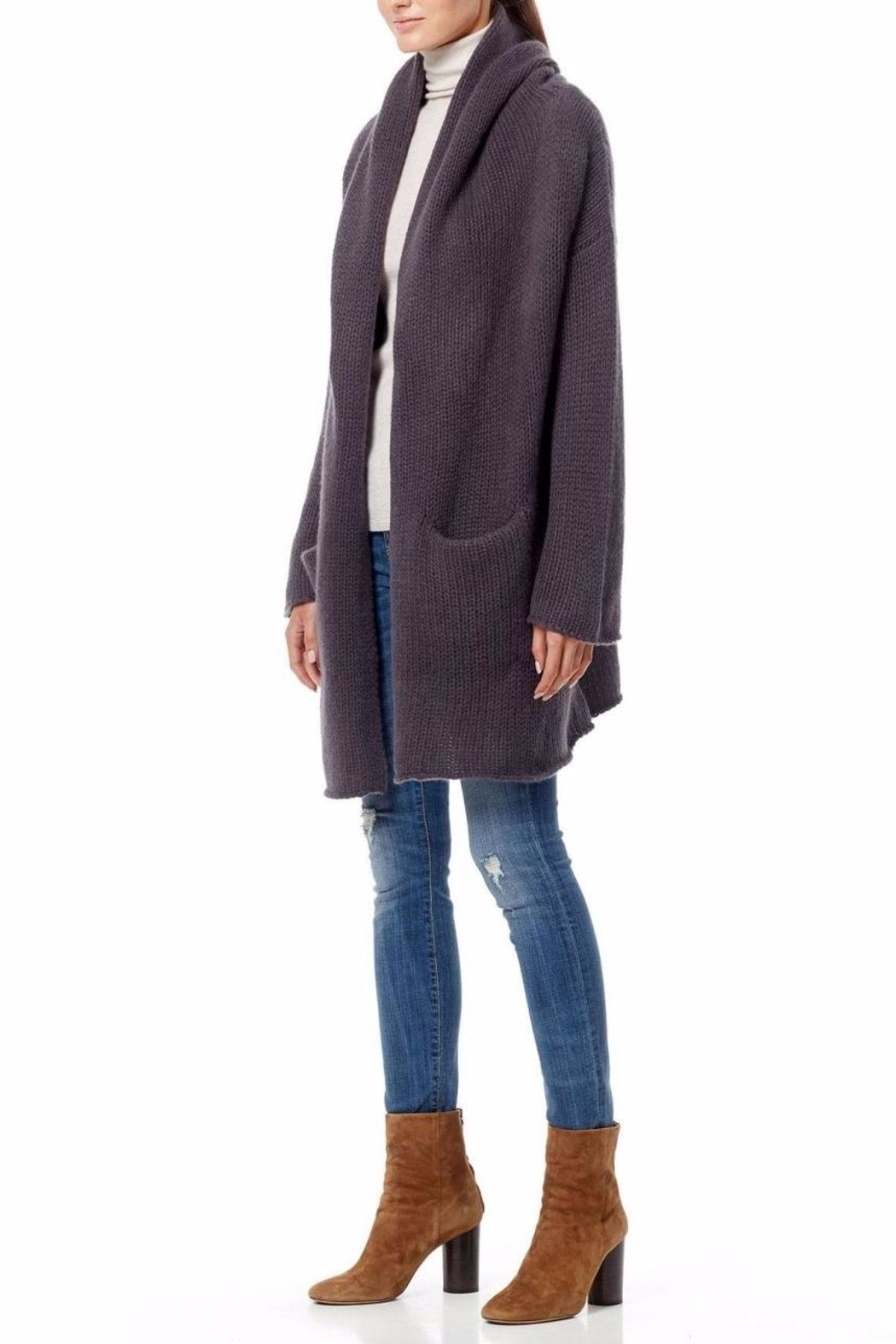 360 Cashmere Chunky Knit Cardigan - Front Full Image