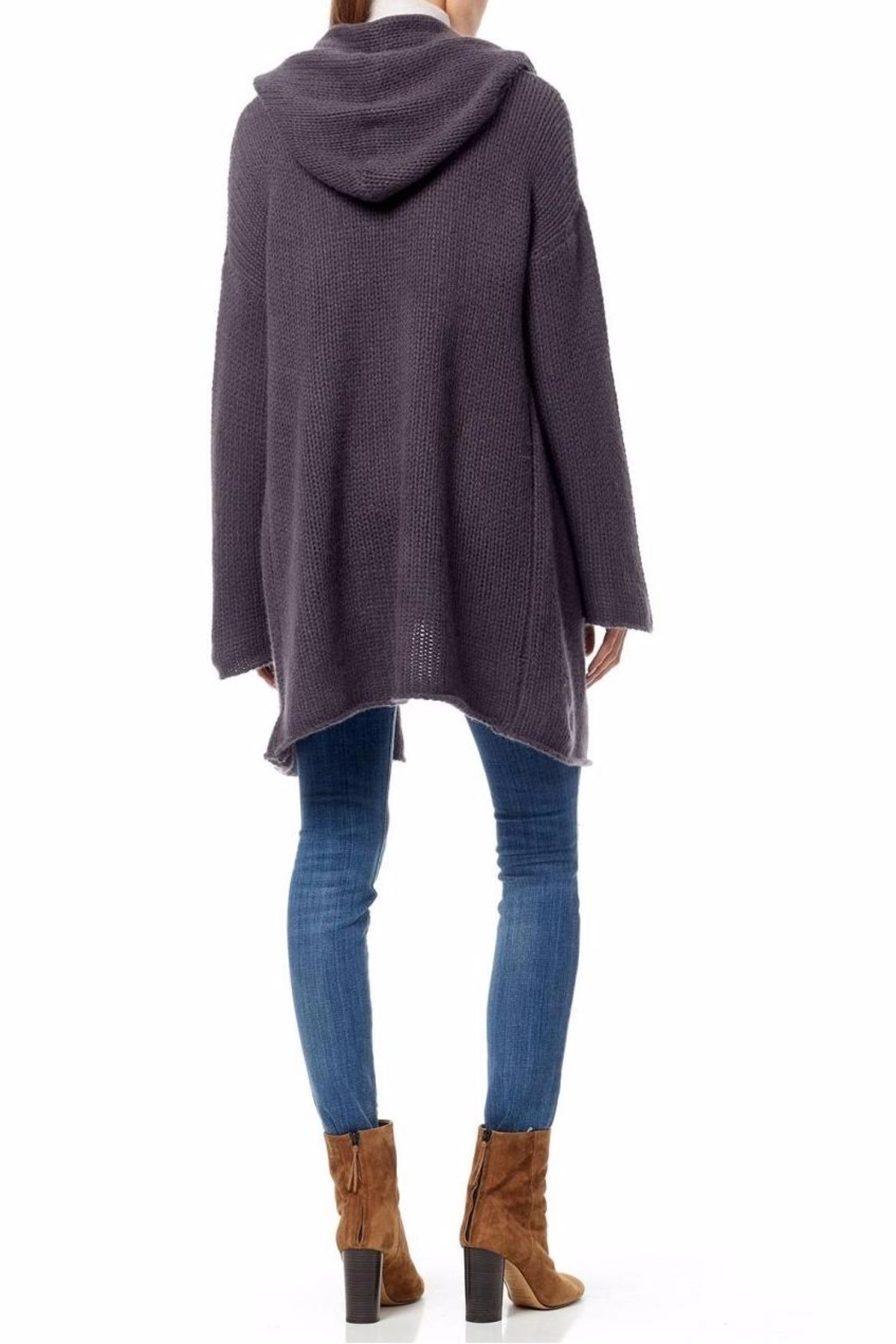 360 Cashmere Chunky Knit Cardigan - Side Cropped Image