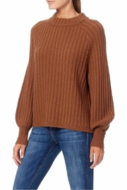 360 Cashmere Cognac Mockneck Sweater - Front full body