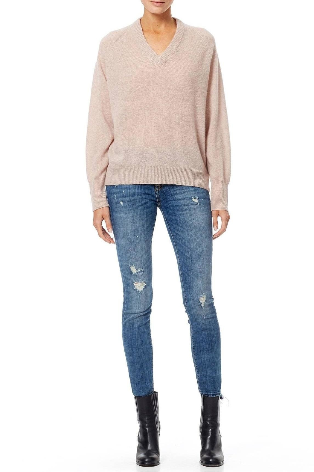 360 Cashmere Danielle Sweater - Back Cropped Image