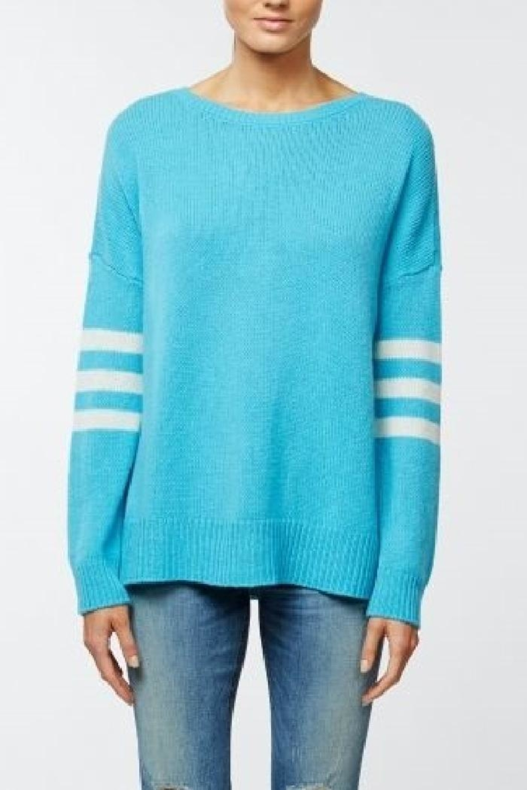 360 Cashmere Decker Tahiti Striped - Side Cropped Image