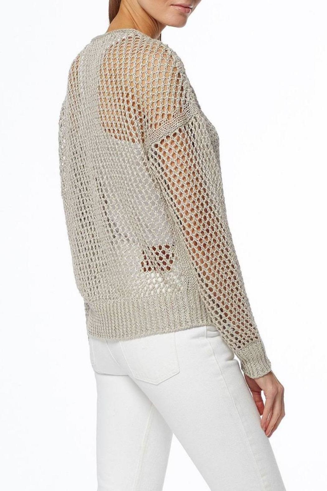 360 Cashmere Dove Pullover - Side Cropped Image