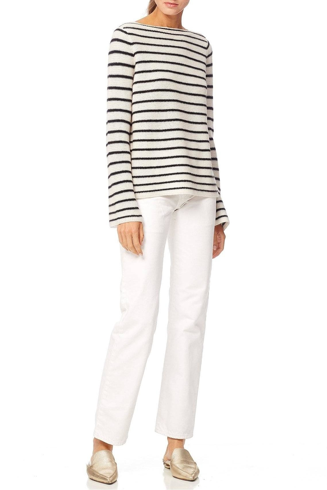 360 Cashmere Faye Sweater - Side Cropped Image