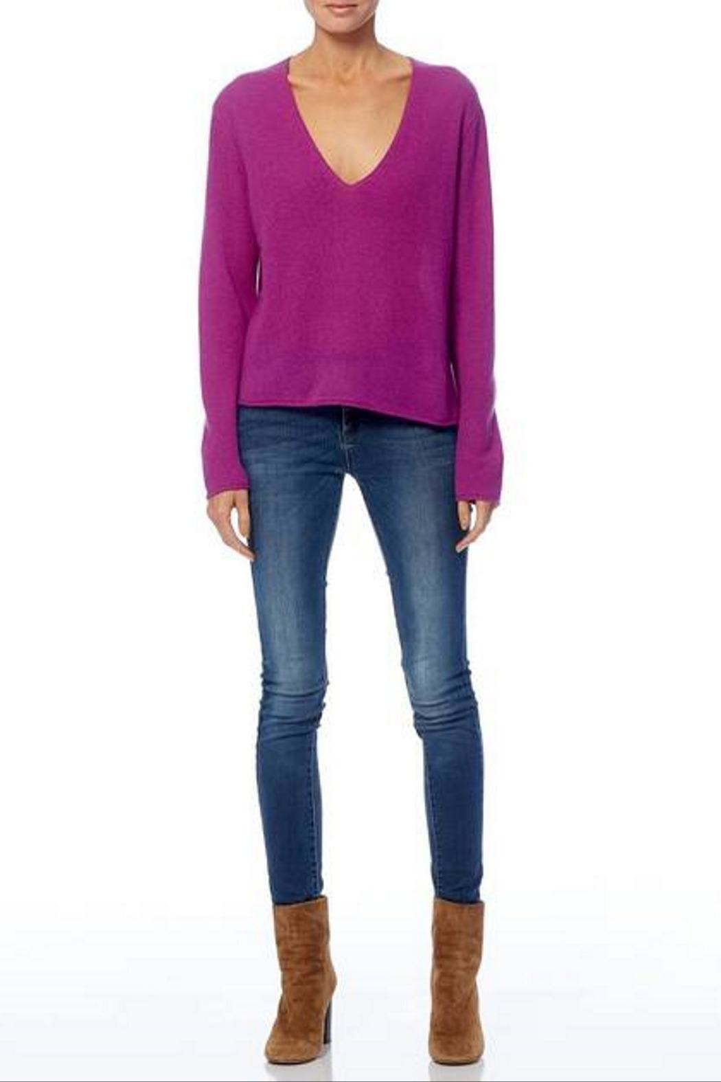 360 Cashmere Gwen Sweater - Back Cropped Image