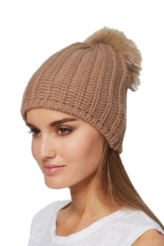 360 Cashmere Haven Pompom Beanie - Front cropped