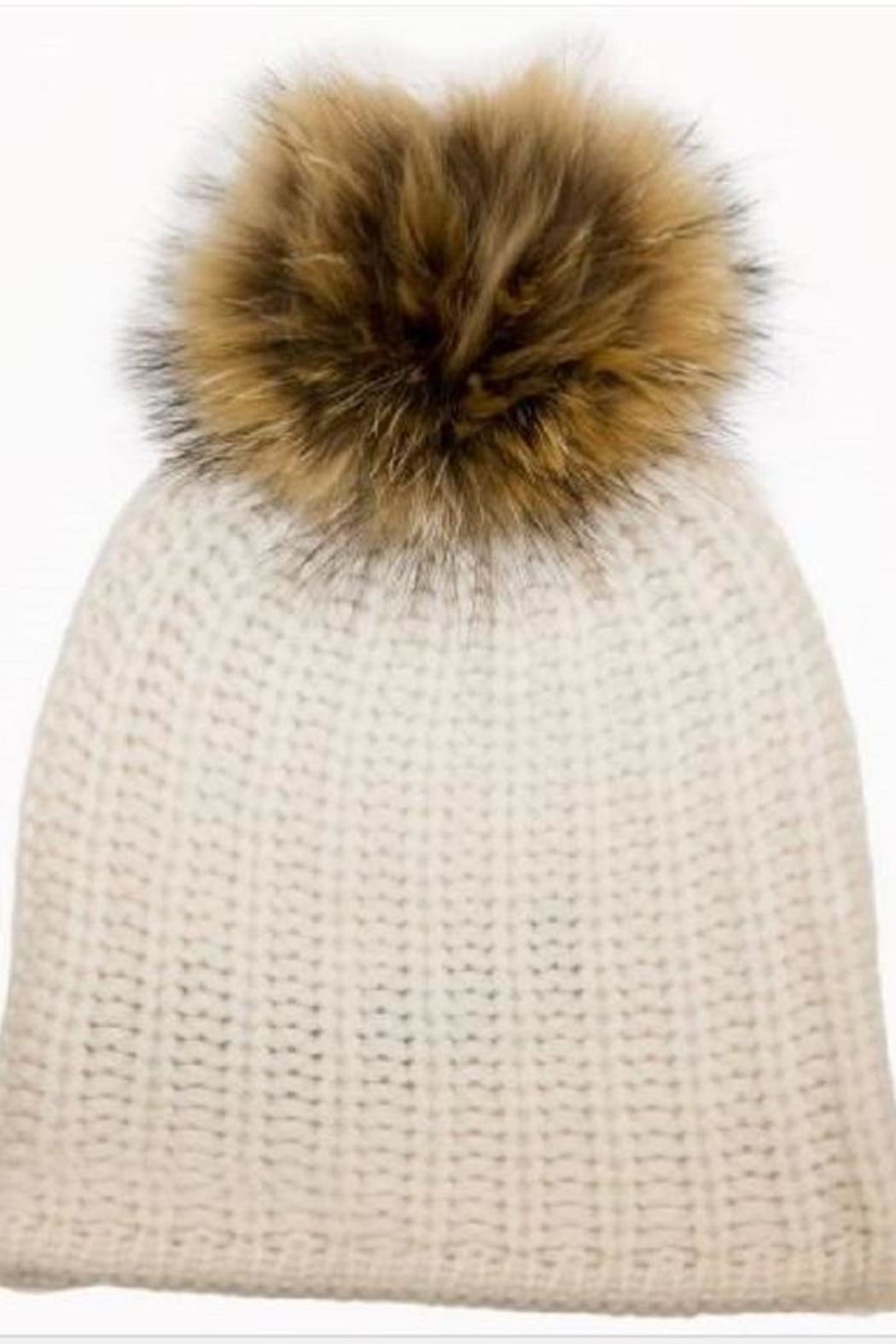360 Cashmere Haven Pompom Beanie - Front Cropped Image