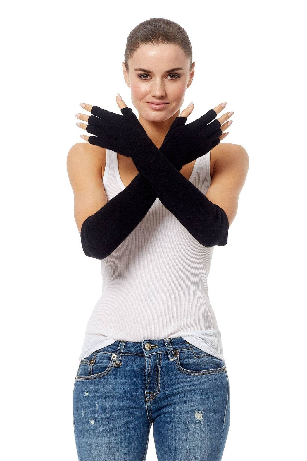 360 Cashmere Katie Gloves - Main Image