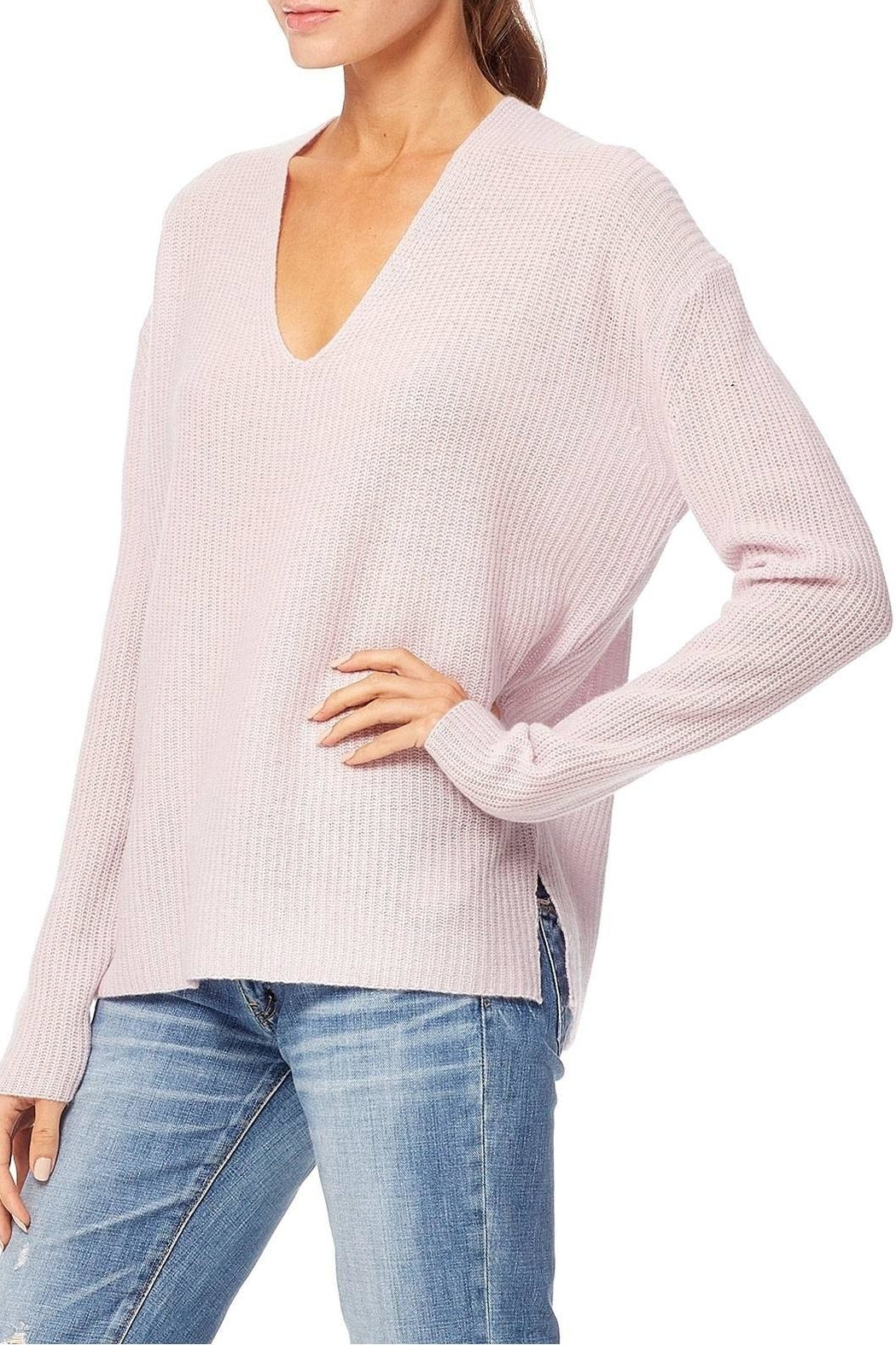 360 Cashmere Mai Vneck Sweater - Front Full Image
