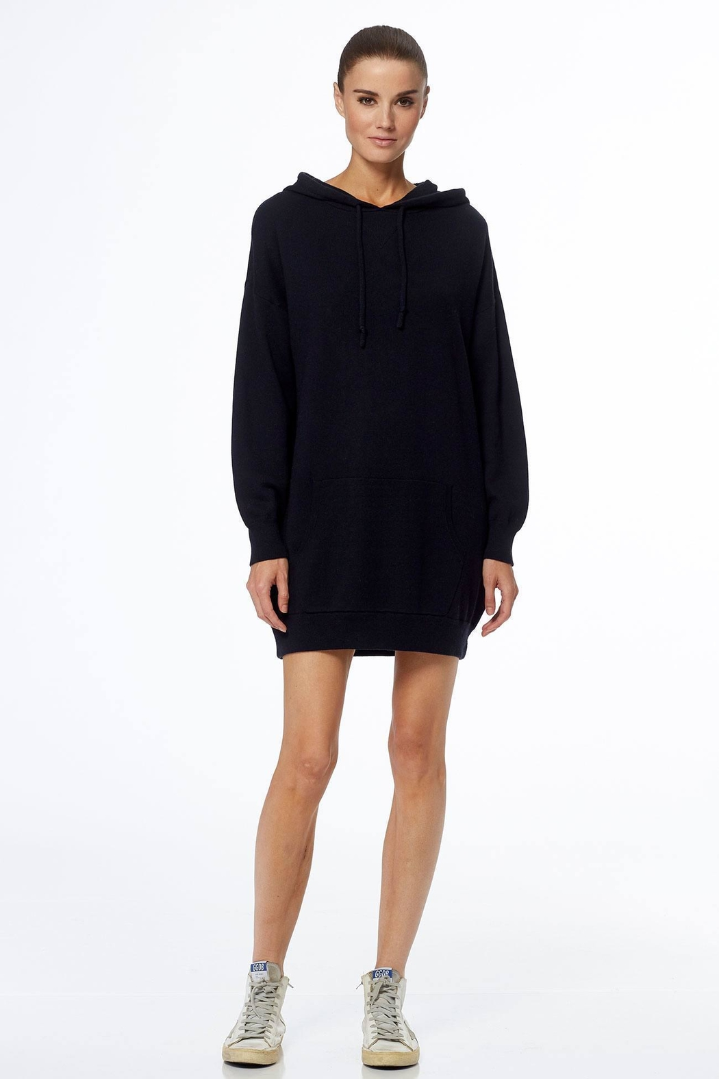 360 Cashmere Noelani Hoodie Dress - Front Cropped Image