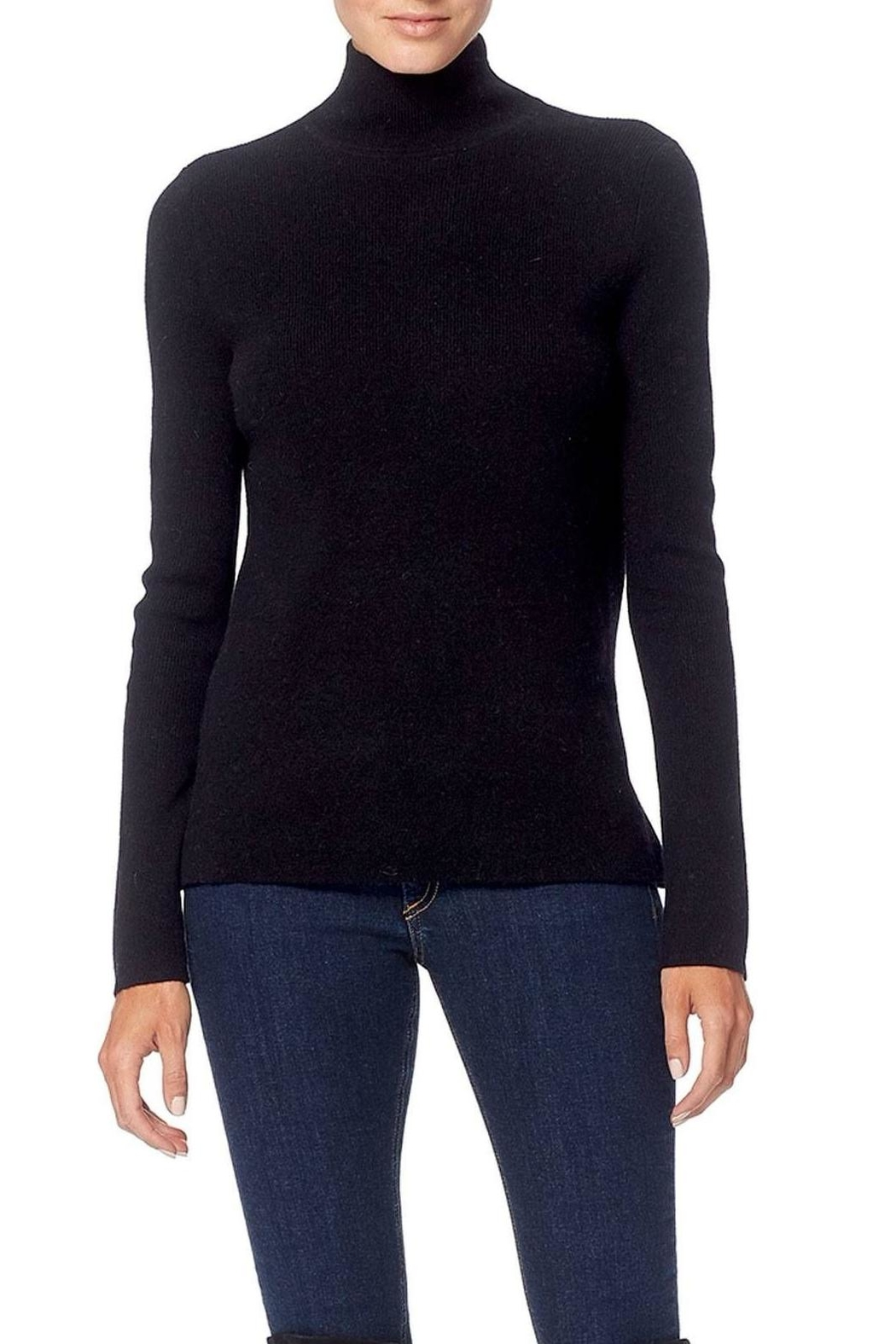360 Cashmere Open-Back Turtleneck Sweater - Main Image