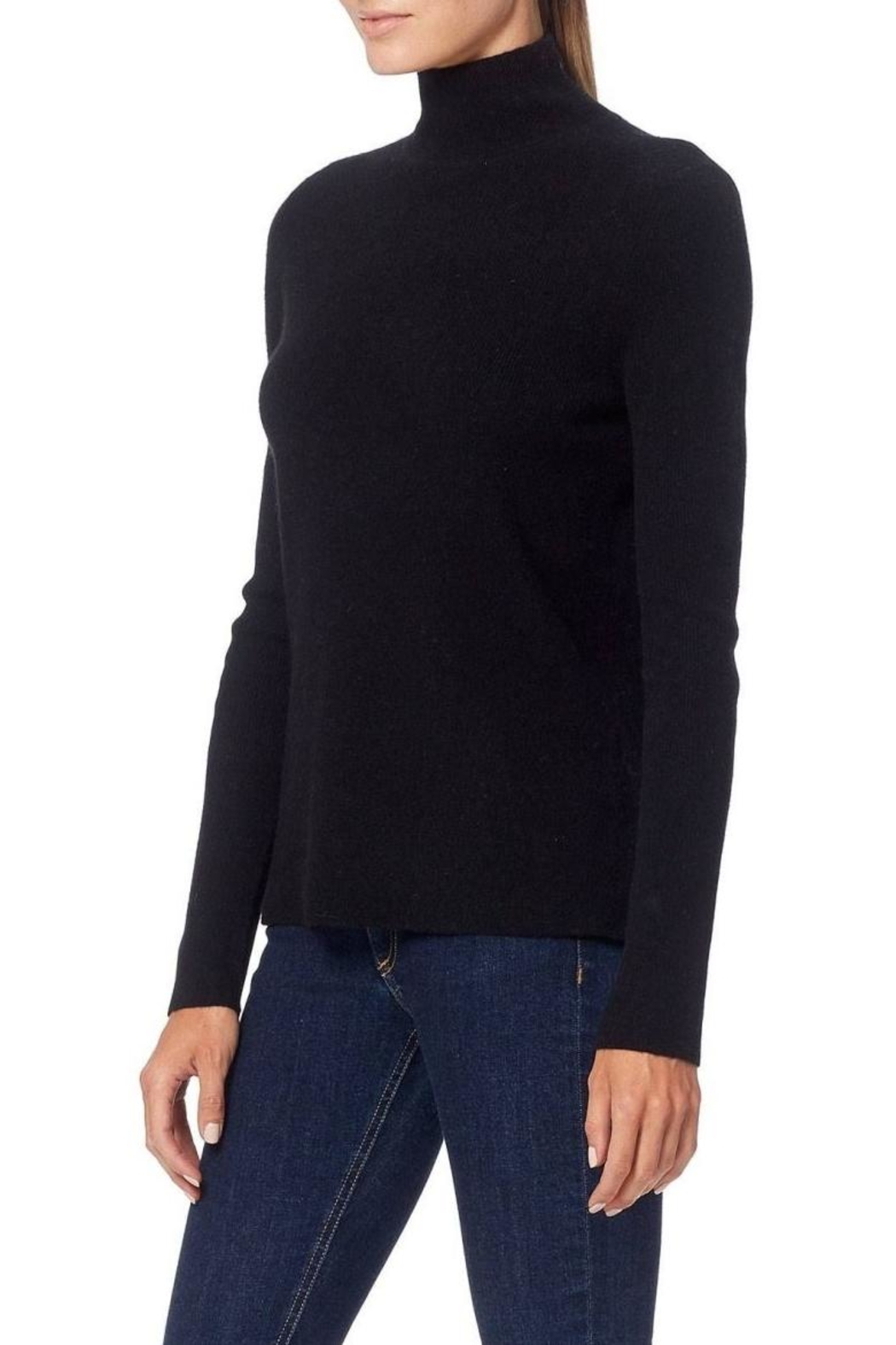 360 Cashmere Open-Back Turtleneck Sweater - Front Full Image
