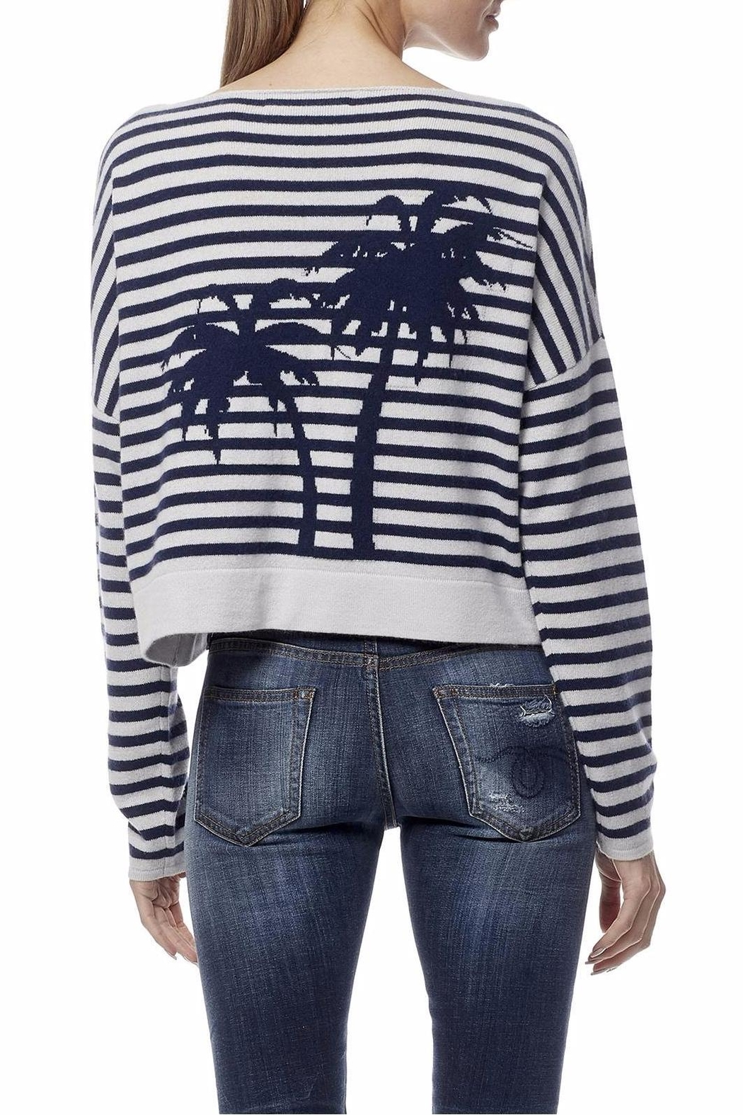 360 Cashmere Palm Tree Sweater - Front Cropped Image