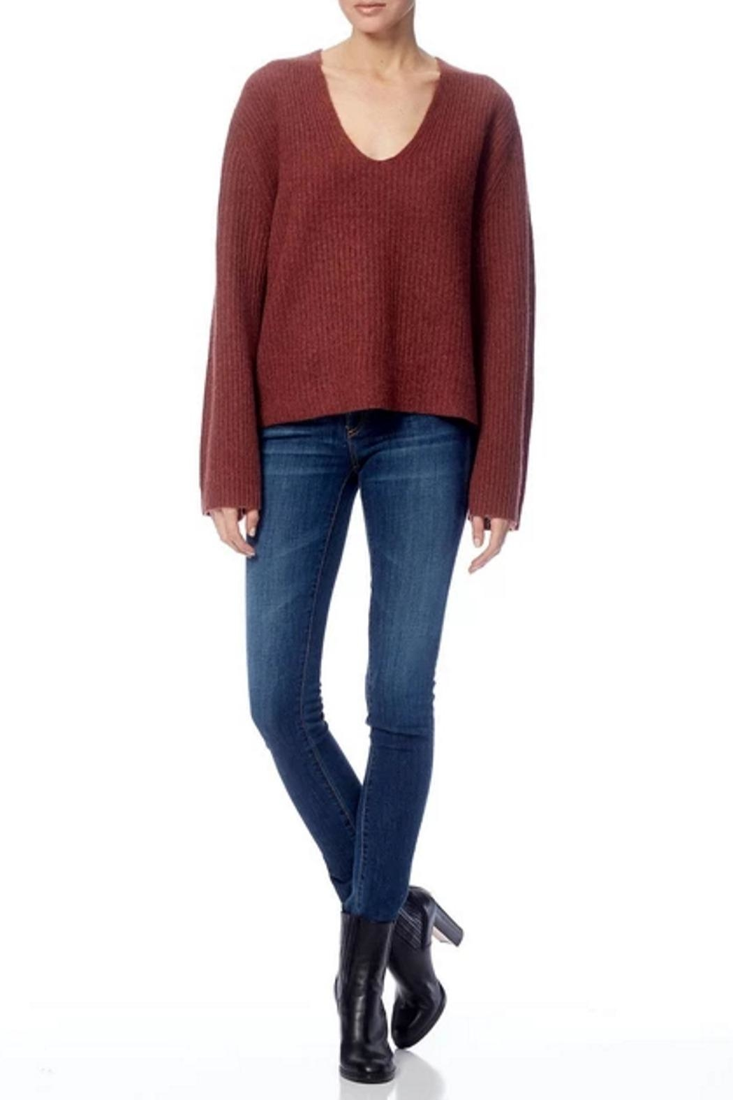 360 Cashmere Reese Sweater - Back Cropped Image