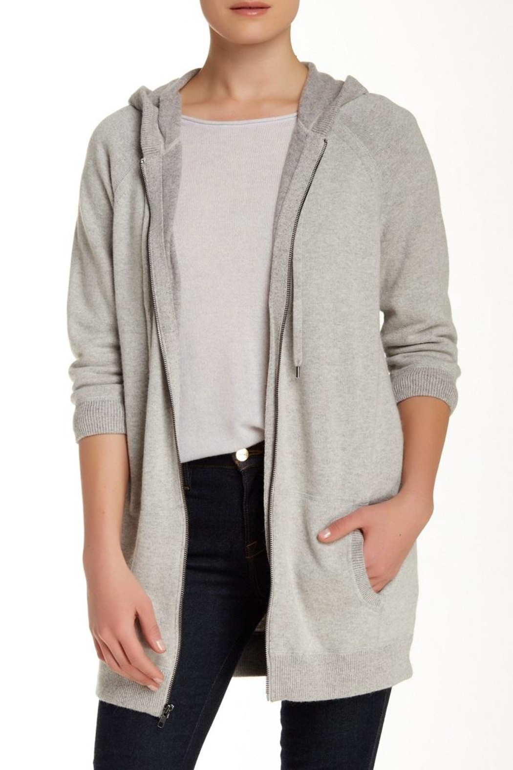360 Cashmere Renanta Hoodie Jacket - Front Cropped Image