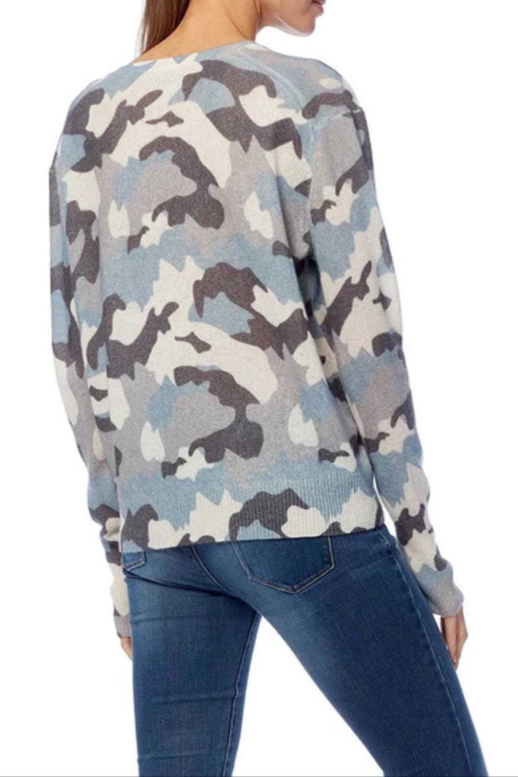 360 Cashmere Theo Camo Sweater - Side Cropped Image