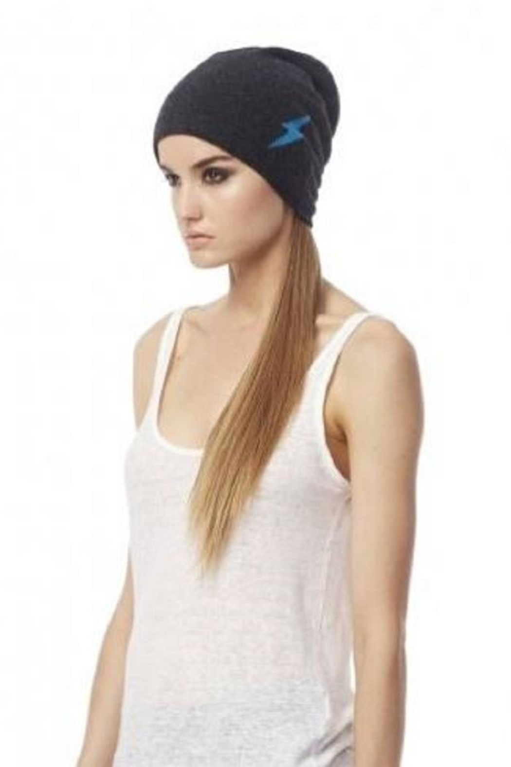 360 Cashmere Veneda Skull Beanies - Front Cropped Image