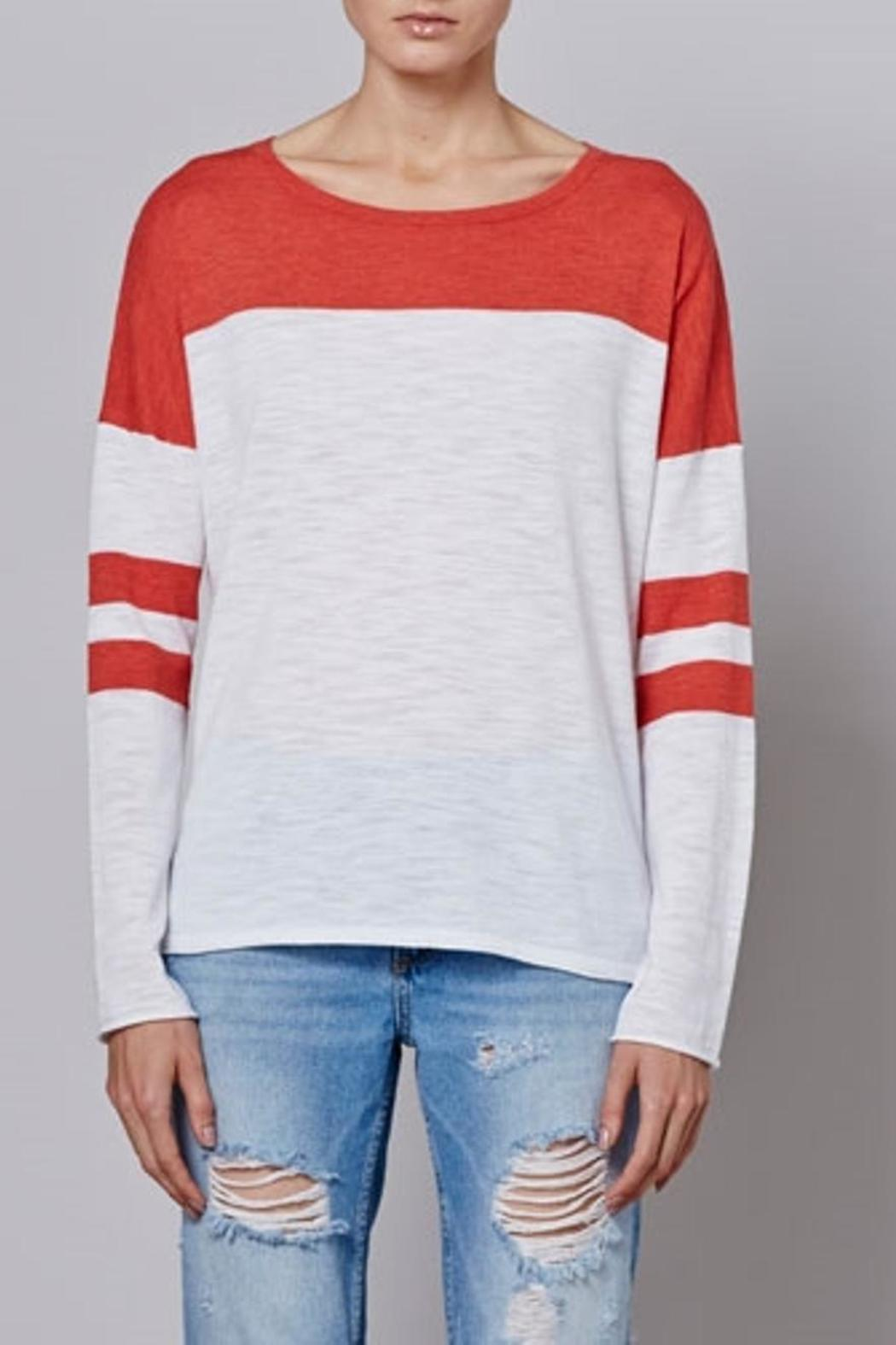 360Sweater Color Block Sweater - Front Cropped Image