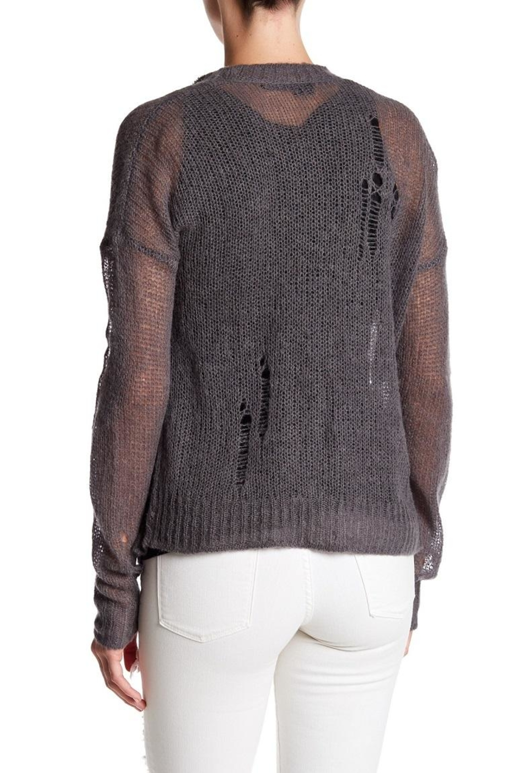 360Sweater Kimi Distressed Sweater - Front Full Image