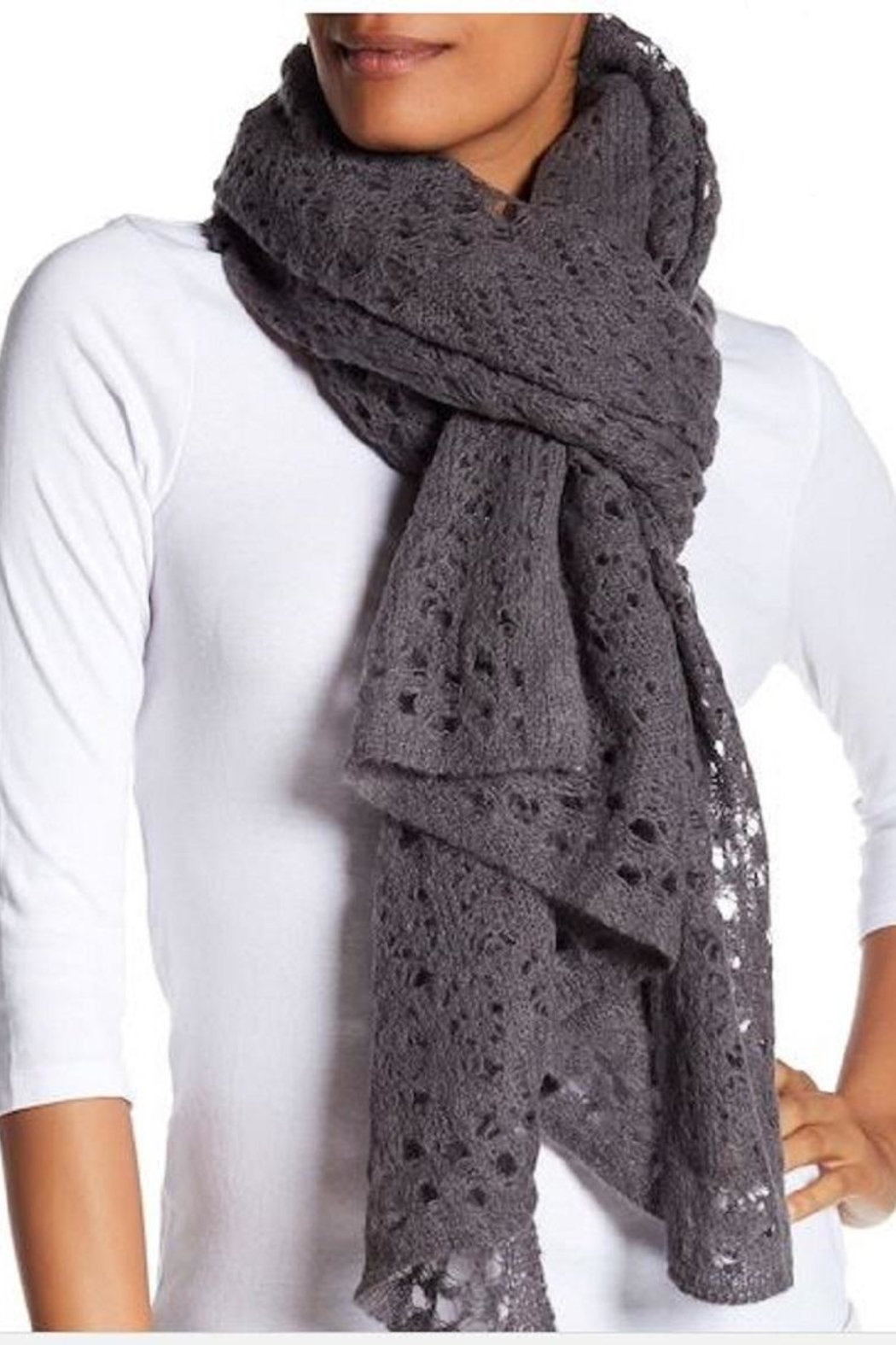 360Sweater Pilar Black Scarf - Front Full Image