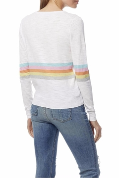 360Sweater Rainbow Stripe Sweater - Alternate List Image