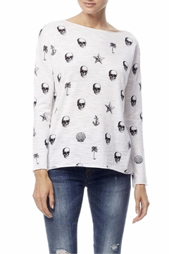360Sweater Skull Print Tee - Product List Image