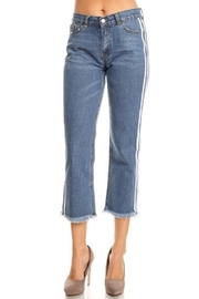 36 POINT 5 Tuxedo Boyfriend Jeans - Product Mini Image