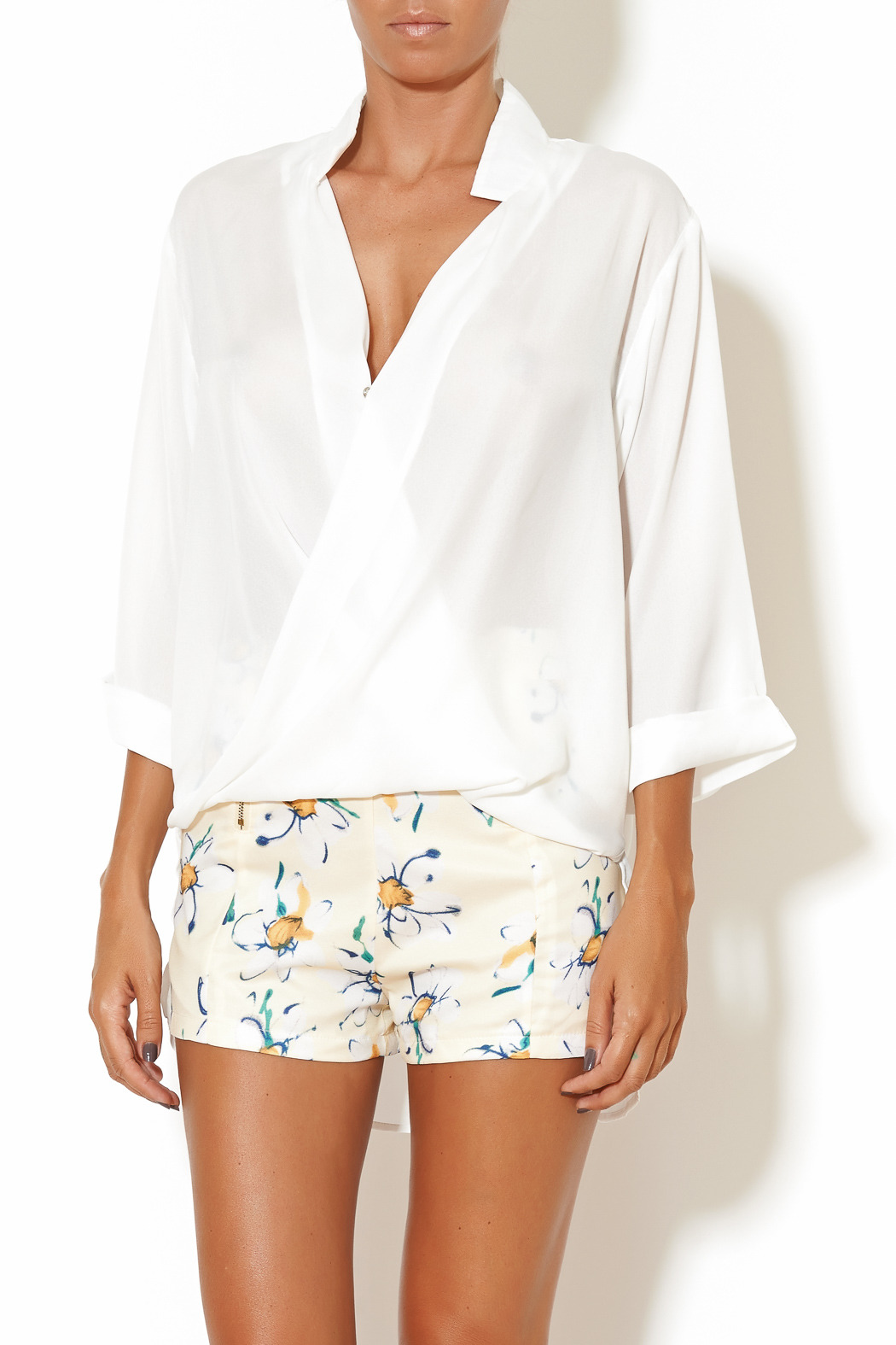 Madison Square Clothing Charlotte Blouse - Front Cropped Image