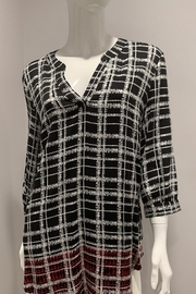 Tribal  Plaid Pullover in Black and White - Product Mini Image