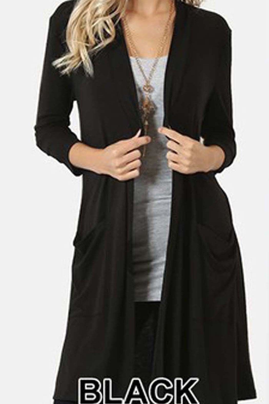 Zenana Outfitters 38 Inch Cardigan - Main Image