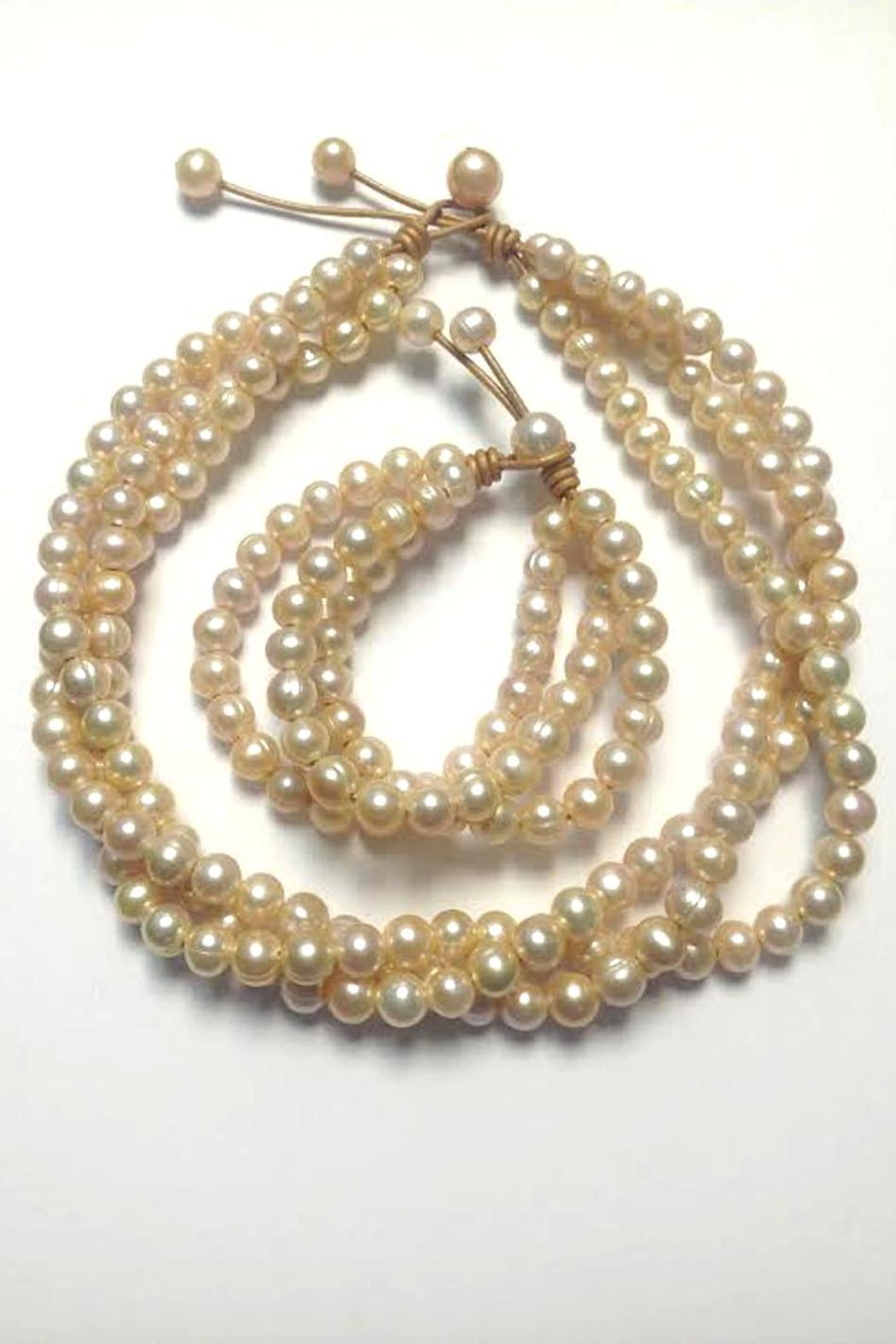 Lily Chartier Pearls Pink Pearl Necklace - Side Cropped Image