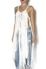 jujube Fringed Top - Front cropped