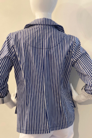 Tribal 3818O/2989 - Pin Striped Jacket - Front full body
