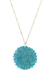 Fanaberie Turquoise Bead Necklace - Front cropped