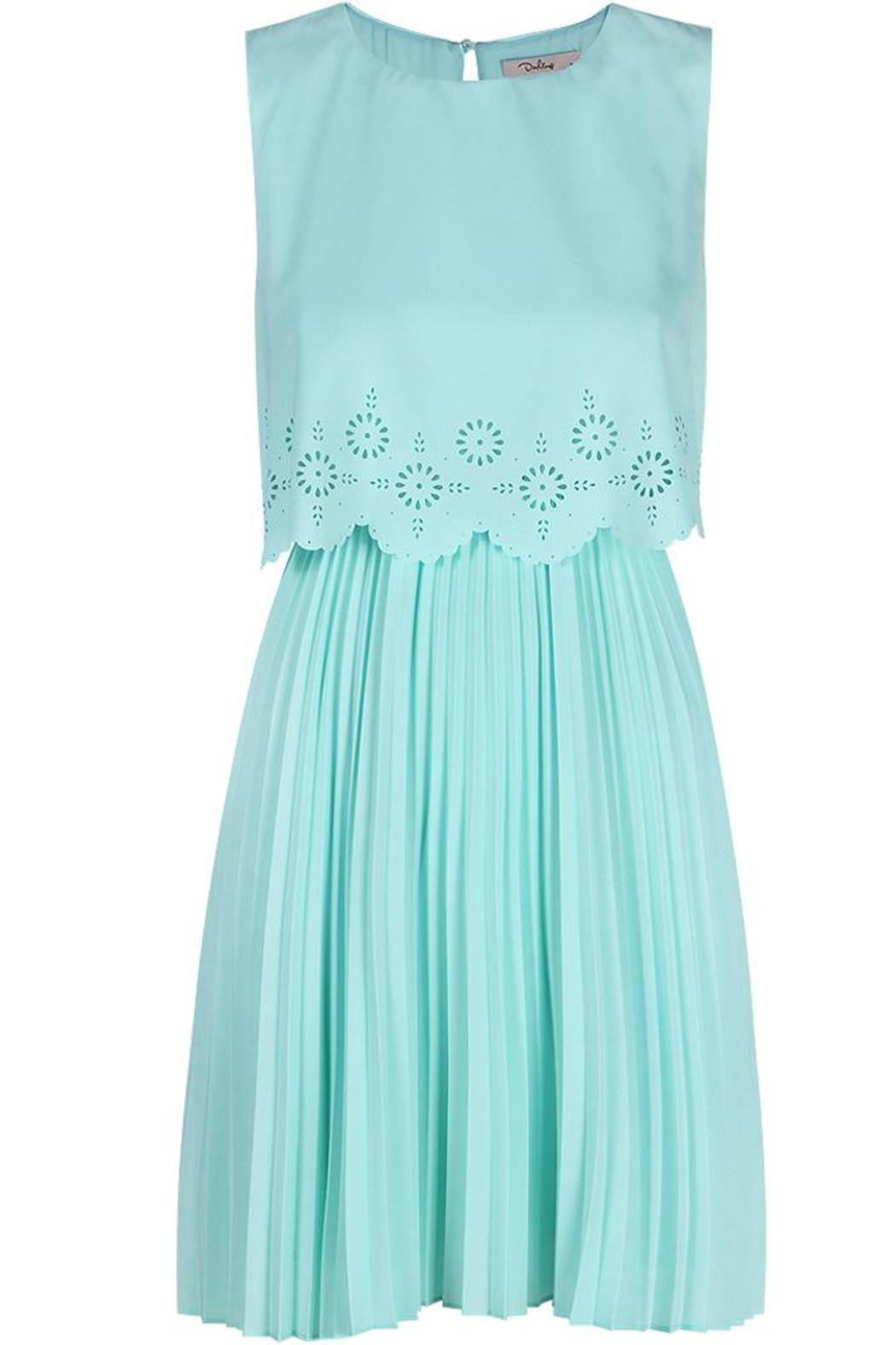 Darling Layered Pleated Dress - Front Cropped Image