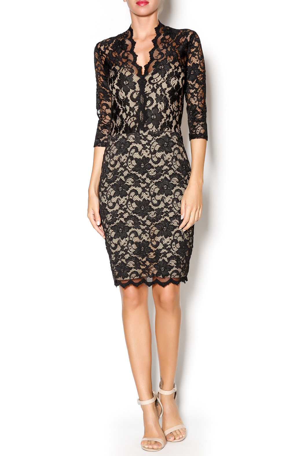 Karen Kane Scallop Border Lace Dress From Ocean Springs By Bayou