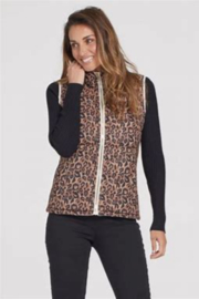 Tribal  3951O-3071  Reversible Puffer Vest - Front cropped