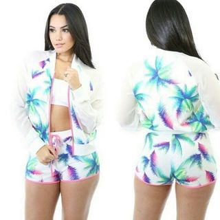 Shoptiques Tropical Short Set