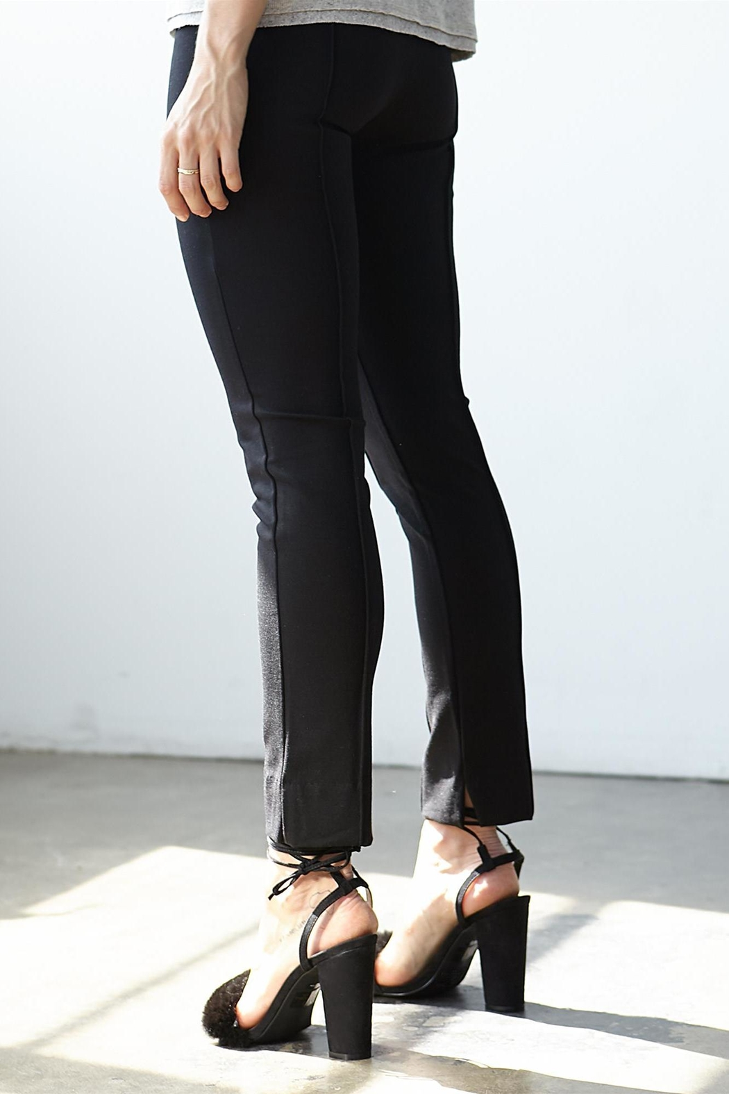 3 Dot Ponte Pintucked Pant - Front Full Image