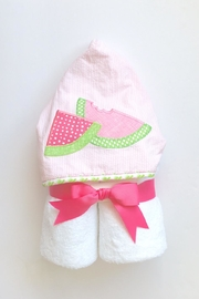 3 Marthas Watermelon Hooded Towel - Front cropped