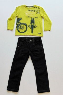 Shoptiques Product: Motorcycle Tee & Jeans Set