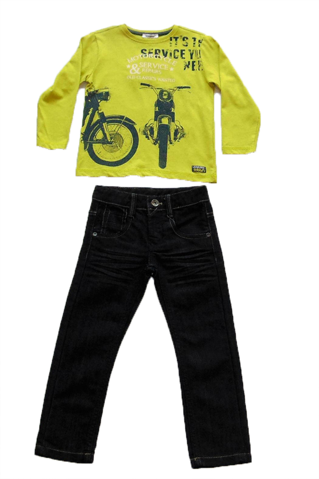 3Pommes Motorcycle Tee & Jeans Set - Main Image