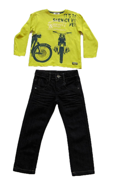 3Pommes Motorcycle Tee & Jeans Set - Product List Image