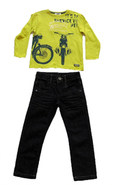 3Pommes Motorcycle Tee & Jeans Set - Product Mini Image