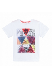 3 Pommes Geometric Printed T-Shirt - Front cropped