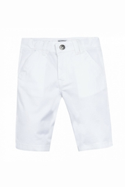 3 Pommes White Bermuda Shorts - Product Mini Image