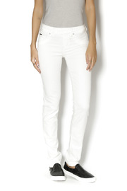 Beija Flor White  Denim - Front cropped