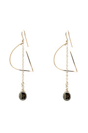 ZIA Boutique Luna Gold Earrings - Front cropped