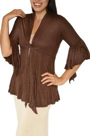 Shoptiques Product: Bell-Sleeve Front-Tie Shrug